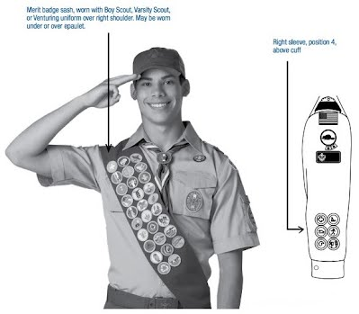 Merit Badge Sash Placement
