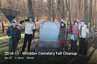Whidden Cemetery 2016 Fall Cleanup