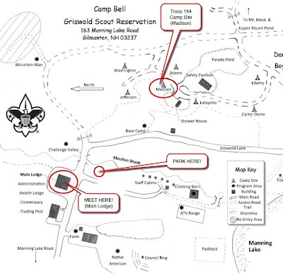 Camp Bell Annotated Map